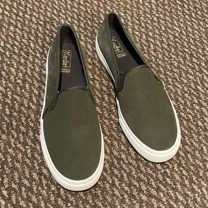 Keds suede slip on shoes